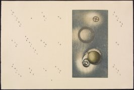 Untitled, pg. 5 (double page), in the book Maximiliana ou l'exercice illégal de l'astronomie: L'Art de voir de Guillaume Temple by Max Ernst (Paris: Iliazd, 1964).