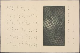 Untitled, pg. 8 (double page), in the book Maximiliana ou l'exercice illégal de l'astronomie: L'Art de voir de Guillaume Temple by Max Ernst (Paris: Iliazd, 1964).