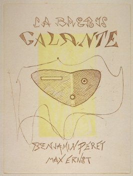 Untitled, title page, pg. 3, in the book La Brebis galante by Benjamin Péret (Paris: Les Éditions Premières, 1949).