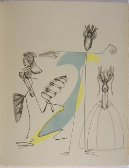 Untitled, pg. 51, in the book La Brebis galante by Benjamin Péret (Paris: Les Éditions Premières, 1949).