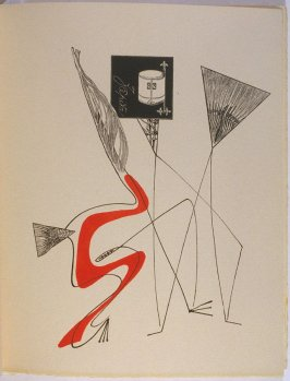 Untitled, pg. 33, in the book La Brebis galante by Benjamin Péret (Paris: Les Éditions Premières, 1949).