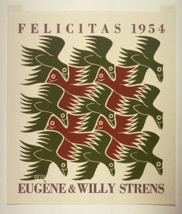 Lucht (Air), no. 2 from the series De vier elementen (The Four Elements), New Year's greeting card for 1954
