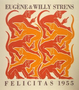 Vuur (Fire), no. 3 from the series De vier elementen (The Four Elements), New Year's greeting card for 1955