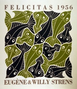 Water, no. 3 from the series De vier elementen (The Four Elements), New Year's greeting card for 1956