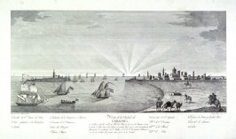 Vista de la Ciudad de/ Veracruz/ su Bahia y Castillo el 18 de Abril de 1820...(View of the City of Veracruz, its Bay and Castle on the 18th of April 1820...)