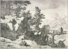 The Man on a Small Wooden Bridge