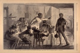 "The ""Small Breeds"" Thanksgiving - Return of the First-Born from College - p.960 Harper's Weekly 8 December 1877"
