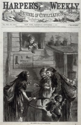 The Gossips - Title page Harper's Weekly (8 September 1877)