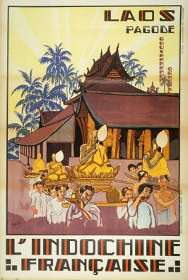 """Laos, Pagode, L""""Indochinie Francaise"""