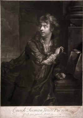 Portrait of Enoch Seeman (Enoch Seemann) the Younger, after his self-portrait
