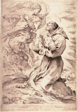 St. Francis Receiving the Christ Child in the Presence of the Virgin