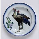 Soup plate with rooster and hen from the 'Rousseau' Service