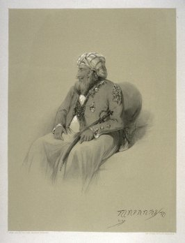 Gulab Sing, fourteenth plate in the book, Recollections of India … Part I. British India and the Punjab (London: Thomas M'Lean, 1847)