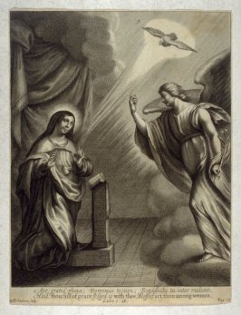 The Annunciation, illustration to Jeremy Taylor's 'The great exemplar' (London, 1657)
