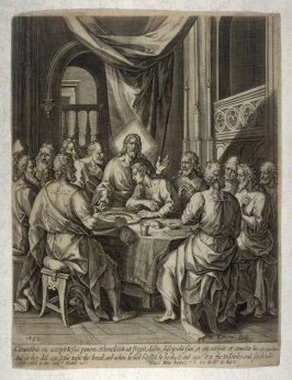 The Last Supper, illustration to Jeremy Taylor's 'The great exemplar' (London, 1653)