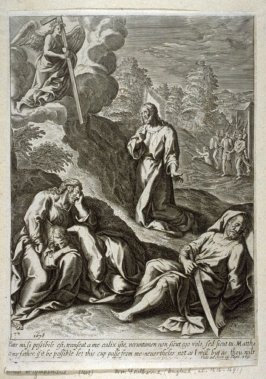 Christ at Gethseme, illustration from Jeremy Taylor's 'The great exemplar' (London, 1653)