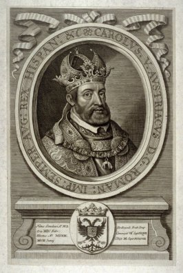 Portrait of Emperor Charles V, illustration to Johann Sleidan, 'The General History of the Reformation of the Church' (London, 1689)