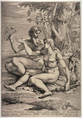 Two Nude Shepherds, after Parmigianino