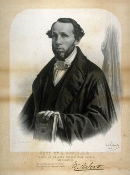 Portrait of Rev. Wiliam A. Scott, Pastor of Calvary Presbyterian Church, San Francisco