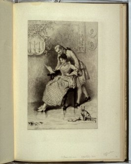 A Good Story, plate at p. 45 in the book, Representative Etchings by Artists of To-day in America (New York: Frederick A. Stokes, 1887)