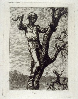 [man chopping branch] from Huit Eaux-Fortes