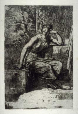 [woman seated] from Huit Eaux-Fortes