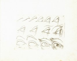 Sketches of Eyes, Plate 3 from In vero modo et ordine per dissegnar tutte le parti et membra del corpo humano (Venice: Bassano, [printed after 1709])