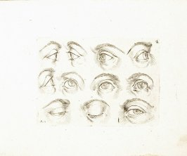 Eleven Shaded Eyes, Plate 4 from In vero modo et ordine per dissegnar tutte le parti et membra del corpo humano (Venice: Bassano, [printed after 1709])