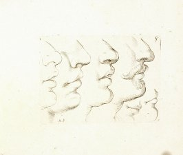 Four Noses and Mouth Sketches, Two Mouth and Chin Sketches, Plate 7 from In vero modo et ordine per dissegnar tutte le parti et membra del corpo humano (Venice: Bassano, [printed after 1709])