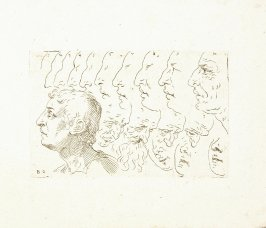 Noses, Profiles, Four Faces of Old Men, Nose and Mouth Sketches of Women, Head of a Man in Profile, Plate 10 from In vero modo et ordine per dissegnar tutte le parti et membra del corpo humano (Venice: Bassano, [printed after 1709])