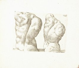 Two Male Figures Seen from Behind, Plate 39 from In vero modo et ordine per dissegnar tutte le parti et membra del corpo humano (Venice: Bassano, [printed after 1709])