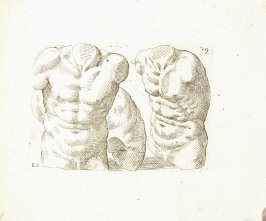 Two Male Figures, Plate 40 from In vero modo et ordine per dissegnar tutte le parti et membra del corpo humano (Venice: Bassano, [printed after 1709])
