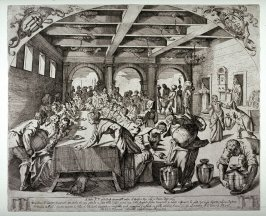 The Wedding Feast at Cana, after Tintoretto's 1561 painting in S. Maria della Salute.