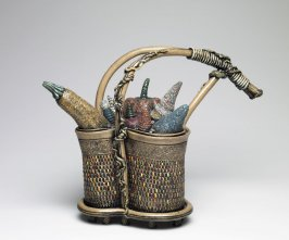 Basket Teapot with Fruit Indigenous to My Planet
