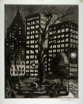 City Lights (also titled Madison Square Park, New York City)