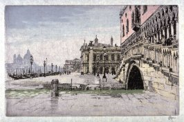 Venice, seen from the front of the Doge's Palace