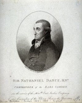Sir Nathaniel Dance, Knight Commander of the Earl Camden
