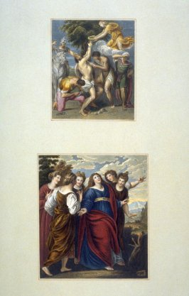 Two Images; 1)The Martyrdom Of St. Bartholomew, 2)Jeptha's Daughter Going To The Mount.