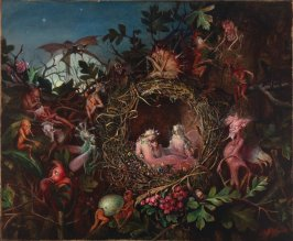 Fairies in a Bird's Nest