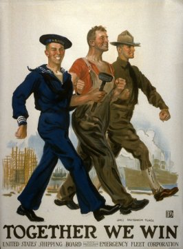 Together We Win - World War I Poster