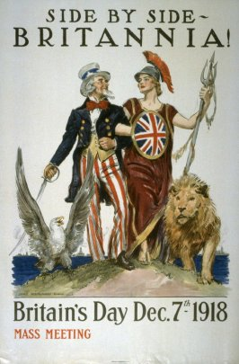 Side by Side - Britannia!- World War I poster