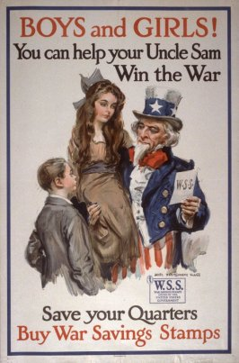 Boys and Girls! You Can Help Uncle Sam Win The War - World War I Poster