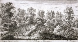 Chemin d'Estampes à Longuetoise (A Road at Longuetoise), from Views of the Longuetoise Chateau