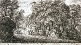 Veue du chemin de Longuetoise à St. Mars (View of the Longuetoise-St. Mars Road), from Views of the Longuetoise Chateau