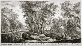 Chemin de St. Mars et partie de la basse cour de Longuetoise (Road of St. Mars and part of the Lower Court of Longuetoise),  from Views of the Longuetoise Chateau