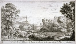 Veue de St. Hilaire de dessus le chemin de Longuetoise a St. Mars (View of St. Hilary from above the Longuetoise-St. Mars Road), from Views of the Chateau of Longuetoise