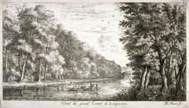 Veuë du grand Canal de Longuetoise (View of the Grand Canal of Longuetoise), from Views of the Chateau of Longuetoise