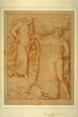Mythological Scene with Hermes and a Goddess