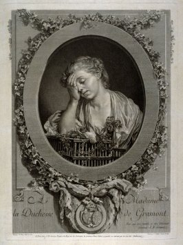 La Pleureus, ou La Perte de Serin (Girl weeping over the death of her canary)