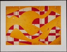 Seven String Etching with Yellow and Red